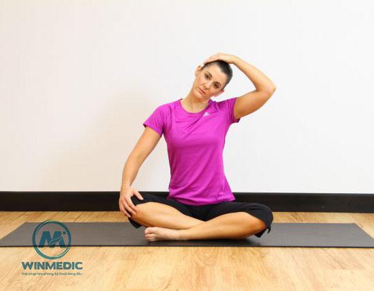 Yoga-Duỗi cơ 2 bên cổ